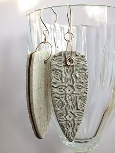 Textured earrings by LillianPoly on Flickr (cc)
