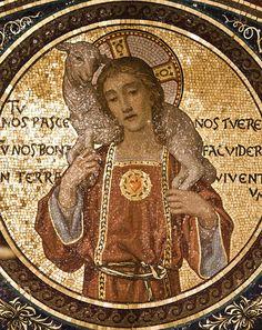 Loving Shepherd - a mosaic in Rome  by Lawrence OP on Flickr.