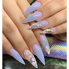 Stiletto Nails Designs Modern and Easy Idea – Inspired Beauty - Nail design Acrylic Nails Stiletto, Metallic Nails, Winter Nails, Spring Nails, Acrylic Nail Designs, Nail Art Designs, Nails Design, Claw Nails, My Nails