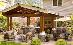 Walk out patio from the house. Like to have an outdoor grilling and dining area.