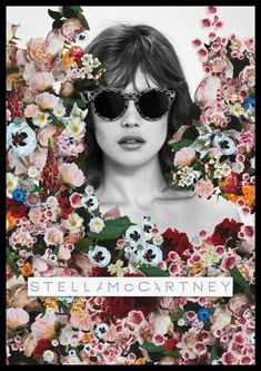 Floral Fashion Ads.. stella mc cartney...Advertisement art can sometimes blow you away. Beautiful  #RAYBAN GLASSES# SUNGLASSES FOR WOMEN