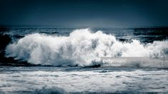 Waves in Jeffreys Bay during a storm, South Africa | Eastern Cape, South Africa | #stockphotos #gettyimages #print #travel