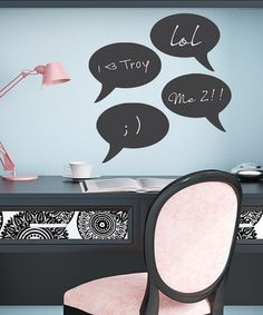 Take a look at this Chalkboard Speech Bubbles Wall Decal Set by Wallquotes.com by Belvedere Designs on #zulily today!