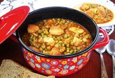 Mancare de mazăre cu piept de pui la cuptor • Gustoase.net Chana Masala, Healthy Recipes, Healthy Food, Carne, Ethnic Recipes, Recipe, Healthy Foods, Healthy Eating Recipes, Healthy Eating