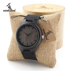 BOBO BIRD Mens Ebony Wood Watches Japanese 2035 Movement Quartz Wrist Watches with Real Leather Strap as Gift Free Shipping. Yesterday's price: US $29.99 (25.78 EUR). Today's price: US $21.89 (18.82 EUR). Discount: 27%.