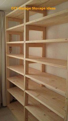 DIY Storage Hacks To Turn Your Garage Into A Haven #diyhomedecor #garagedecor Basement Shelving, Garage Shelf, Wall Shelving, Garage Shelving Plans, Garage Closet, Pantry Shelving, Garage Cabinets, Shelving Ideas, Pantry Storage