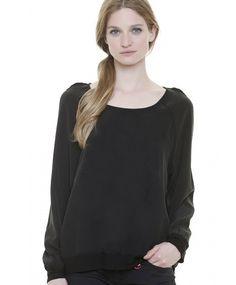 Swildens Seidensweater Pullover LYNX Crêpe de Chine black