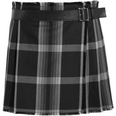ALEXANDER MCQUEEN Pleated checked silk and wool-blend wrap mini skirt