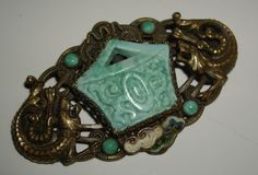 Vintage Czech Chinese Design Brooch Attributed to Max Neiger