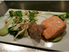 The Chef's Take: Slow-Cooked Salmon with Green Romesco from Morimoto : Food Network | Healthy Eats – Food Network Healthy Living Blog