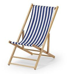 Telescope Casual Cabana Beach Folding Chair Blue/White Stripe