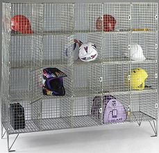 Mulit Compartment Wire Mesh Locker With Doors