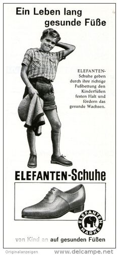 Original-Werbung/ Anzeige 1959 - ELEFANTEN SCHUHE - ca. 75 x 155 mm