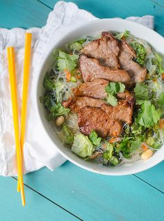 Vietnamese Pork & Rice Noodle Salad | Pink Parsley Blog, via Flickr