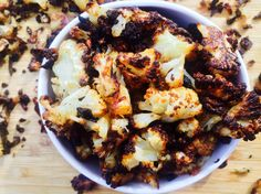 baked-cauliflower-popcorn make cauliflower taste as good as French fries How To Make Cauliflower, Cauliflower Popcorn, Baked Cauliflower, Side Recipes, Paleo Recipes, Whole Food Recipes, Dinner Recipes, Paleo Food, Clean Eating Dinner