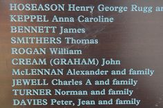 Alexander McLennan family on the Welcome Wall at Darling Harbour