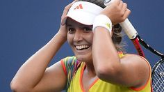 Laura Robson beat Sorana Cirstea 6-4 6-2 in the semi-finals of WTA Guangzhou to become the first British woman to reach a Tour singles final since Jo Durie in 1990.