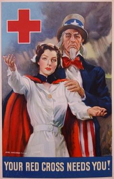 James Montgomery Flagg - Flagg, Your Red Cross Needs You!, c.1942
