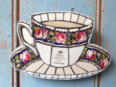 Blank Greetings Card Greetings Card uk Cup and Saucer
