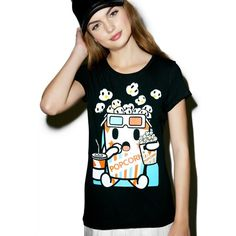 Tokidoki Summer Flick Tee ($28) ❤ liked on Polyvore featuring tops, t-shirts, cotton t shirts, graphic design t shirts, relax t shirt, graphic print t shirts and graphic t shirts