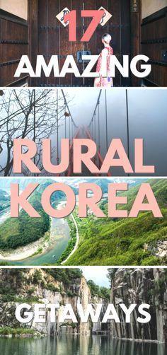 17 Amazing Rural Korea Getaways // SOUTH KOREA partez en voyage maintenant www.airbnb.fr/c/jeremyj1489