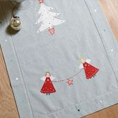 Kitchen Gorgeous Christmas Table Runner Table Centre Piece Decor Hand Embroidered Angels And Christmas Trees Design Duck Egg Color 100 Percent Cotton Material Gorgeous Christmas Table Runners Christmas Runner, Christmas Table Cloth, Christmas Tree Design, Christmas Makes, Christmas Home, Christmas Crafts, Christmas Ideas, Christmas Stuff, Christmas Decorations