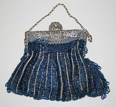 Purse  Date: 1895–1900 Culture: Italian Medium: silk, metal, glass