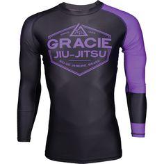 Listed Price: $54.99 Brand: Gracie Jiu-Jitsu Gracie Jiu Jitsu Long Sleeve Ranked Rashguard represent your skill and passion for Jiu��_