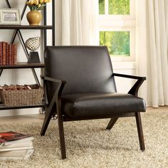 Furniture of America Zelina Modern Leatherette Accent Chair $254.99 on Overstock