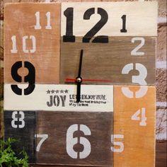 meeeegu...さんの、DIY,手作り,時計,出会いに感謝です♡,手作り時計,オーダー,ステンシル,オーダー品,壁/天井,のお部屋写真