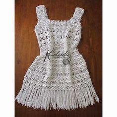 Celeida Artes em Fios: Vestido de crochê!