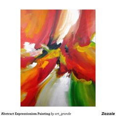 Abstract Expressionism Painting Letterhead