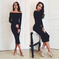 Pretinho básico – looks para sair a noite Elegant Dresses For Women, Simple Dresses, Sexy Dresses, Dress Outfits, Evening Dresses, Casual Dresses, Fashion Dresses, Dresses For Work, Formal Dresses