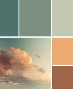 clouds.  This is my color scheme and while I love it, if doing it again, I would use a much lighter shade of gold.  It just looks heavy and overpowering against the blue hue.