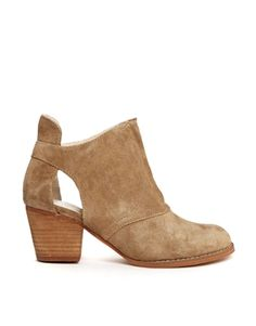 Image 1 ofShelly's London Chanrut Suede Cut Beige Ankle Boots $161.96