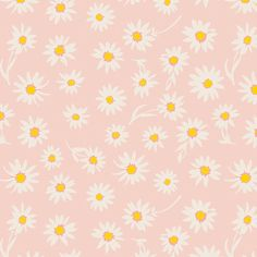 a daisy fabric on a baby pink background - Wonderful Things – fabric collection by Bonnie Christine - best quality quilting cotton