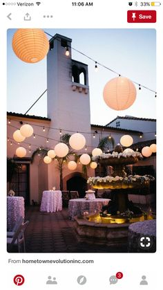 String Lights & Paper Lanterns make for an exceptional outdoor reception! String Lights & Paper Lanterns make for an exceptional outdoor reception! Lantern String Lights, String Lights Outdoor, Paper Lanterns With Lights, Wedding String Lights, Festoon Lights, Hanging Paper Lanterns, Globe Lights, Decoration Evenementielle, Deco Champetre