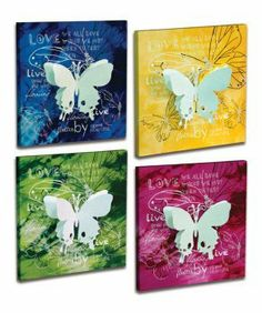 4 Butterfly Plaques by Gordon Companies, Inc. $84.00. Please refer to SKU# ATR25936637 when you inquire.. Brand Name: Gordon Companies, Inc Mfg#: 30809010. Picture may wrongfully represent. Please read title and description thoroughly.. Shipping Weight: 5.25 lbs. This product may be prohibited inbound shipment to your destination.. 4 Butterfly Plaques/3-Dimensional/11.5''H x 11.5''W/made of canvas and tin/you get one of each style as shown