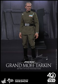 The Hot Toys Grand Moff Tarkin Sixth Scale Figure is available at Sideshow.com for fans of Peter Cushing and Star Wars Episode IV A New Hope.