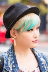 Colored Tips - Short Hair Style - Japan Street Fashion