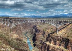 Rio Grande Gorge Bridge in Image copyright Nina Anthony Rio Grande Gorge, October 2014, Oh The Places You'll Go, New Mexico, Bridges, Road Trip, Vacation, American, Photography