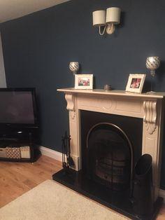 My living room - farrow and ball stiffkey blue