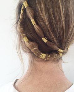 A touch of gold for @dees_nice.💛I created this look using @bumbleandbumble Dryspun Finish + metallic gold micro cording. #bumbleandbumble #blonde #hair #texture #detail #gold #metallic #crown #bride #bridal #weddinghair #hairstyle #hairinspo #hairgoals #love #romantic #updo #dryspunfinish #nyc #inspiration