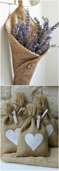 Wedding diy vintage burlap Ideas for 2019 Burlap Projects, Burlap Crafts, Diy And Crafts, Sewing Projects, Craft Projects, Arts And Crafts, Wedding Gift Bags, Diy Wedding, Trendy Wedding
