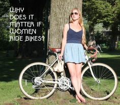 Women In Cycling: Why We Matter - from girl. Girls In Love, Guys And Girls, Cycle Chic, Cycling Tips, Bicycle Girl, Sporty Girls, My Ride, Sexy, Skater Skirt