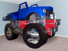 Monster Truck Themed Room | Monster Truck Bed