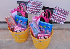 """Teacher Appreciation Gift Basket with Scissors and saying. """"Mrs. blank You're a cut above the rest!"""""""