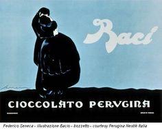 Federico Seneca - illustrazione Bacio - bozzetto - courtesy Perugina Nestlè Italia