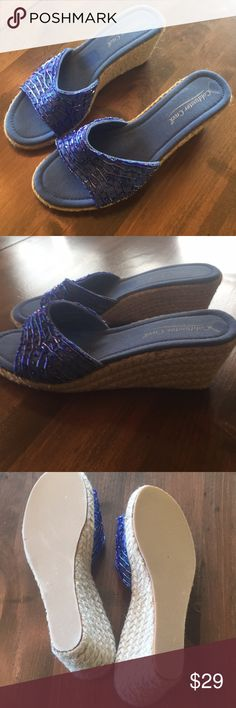 Coldwater creek wedges. New without tags Size 8 beaded wedges. Too small for my foot that's the only reason I'm selling. Really cute and nice espadrilles Coldwater Creek Shoes Espadrilles