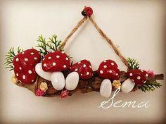 mutfak için duvar süsü #taşboyama #stonepainting #mantarlar #mushrooms #treebranch #rock #stone #handmade #desing #painting #walldecoration #forkitchen #kitchendecor #decoration